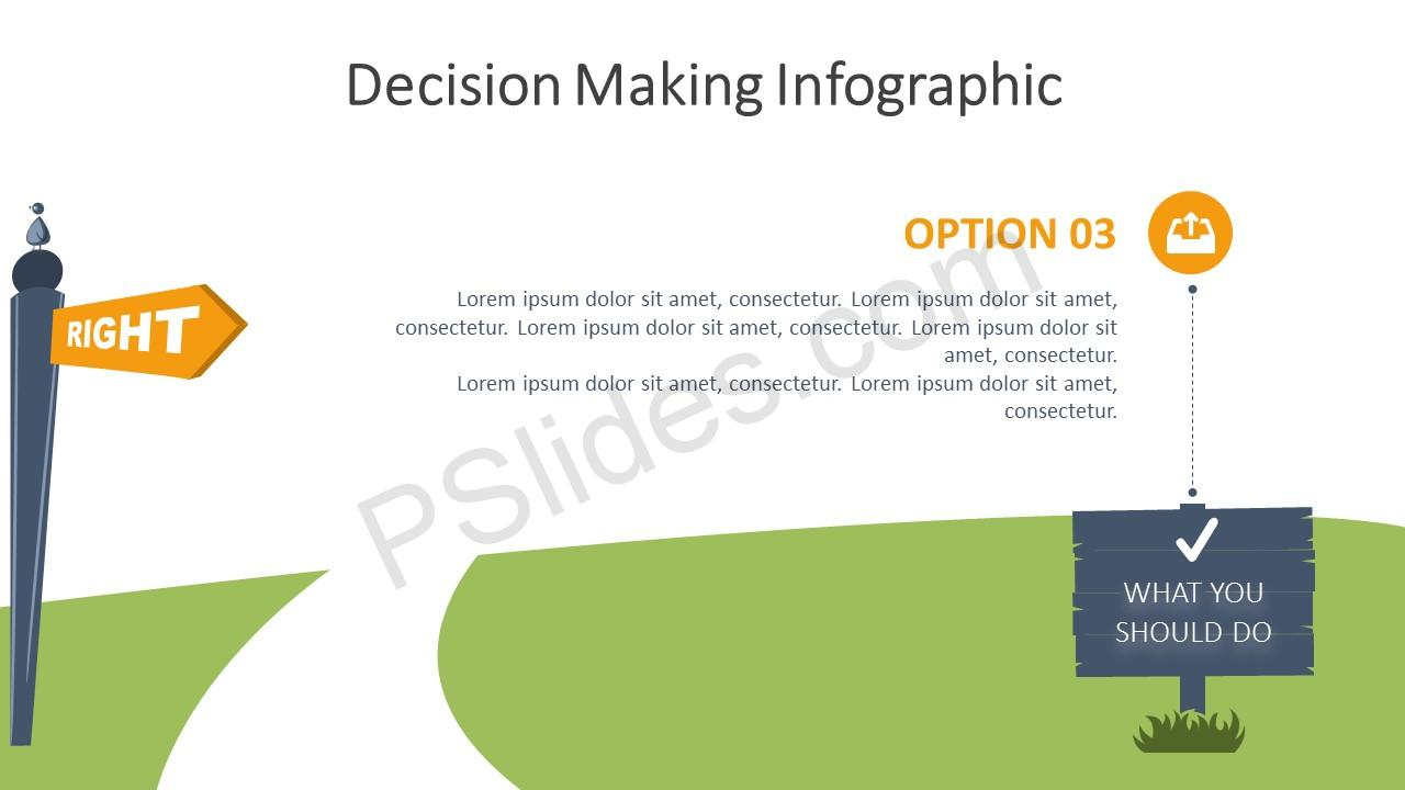 Decision Making Infographic for PowerPoint – Option 3