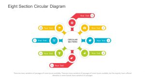 Eight Section Circular Diagram PowerPoint Template