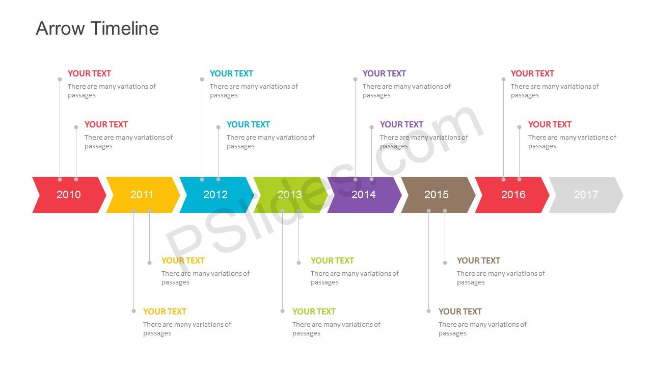 free arrow timeline powerpoint template
