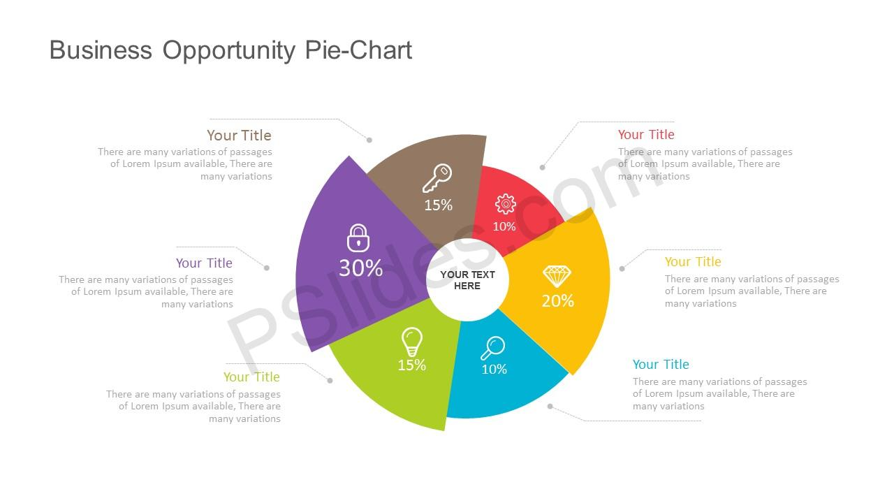 Free Business Opportunity Pie Chart For Powerpoint