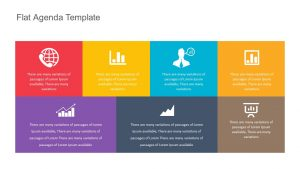 Flat Agenda Template for PowerPoint