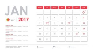 Free 2017 Calendar PowerPoint Template