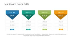 Four Column Pricing Table