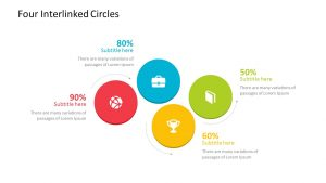 Free Four Interlinked Circles PowerPoint Diagram