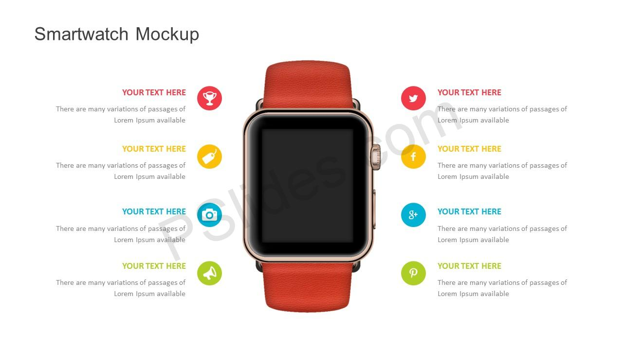 smartwatch mockup powerpoint template