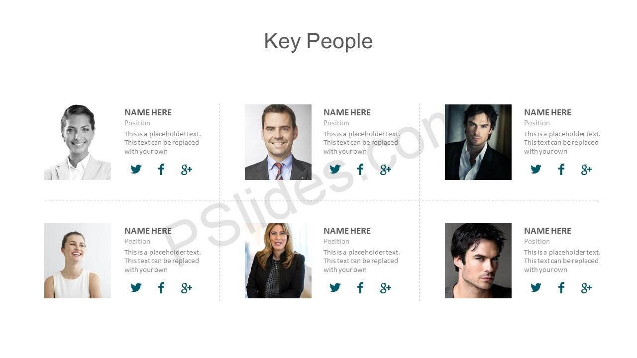 Key People PowerPoint Template