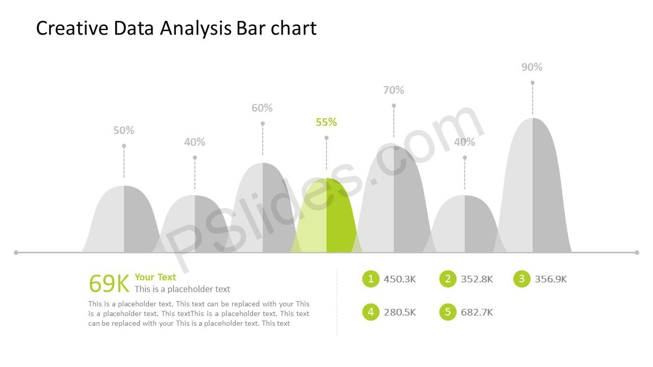 free creative data analysis bar chart for powerpoint. Black Bedroom Furniture Sets. Home Design Ideas
