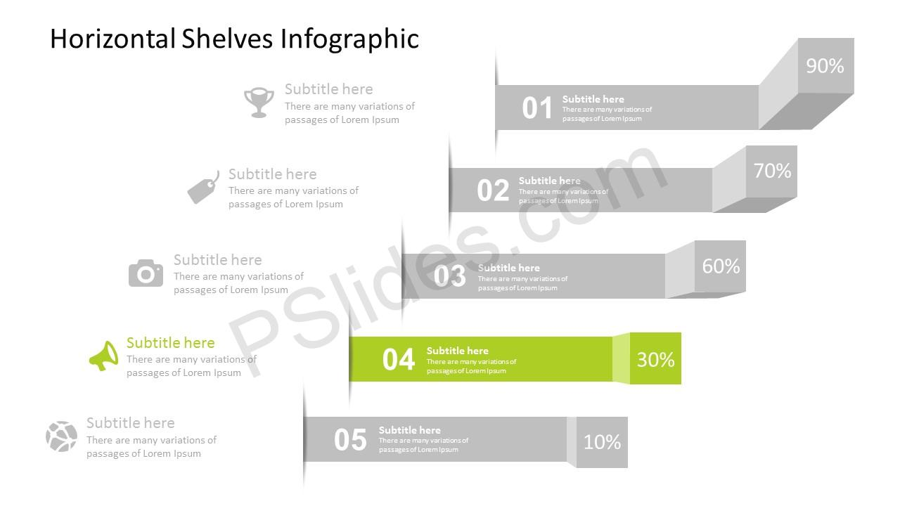 PPT Shelves Infographic for PowerPoint