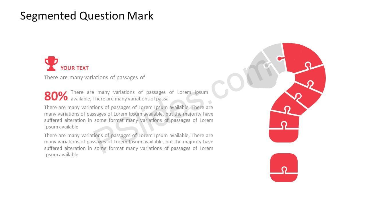 Segmented Question Mark