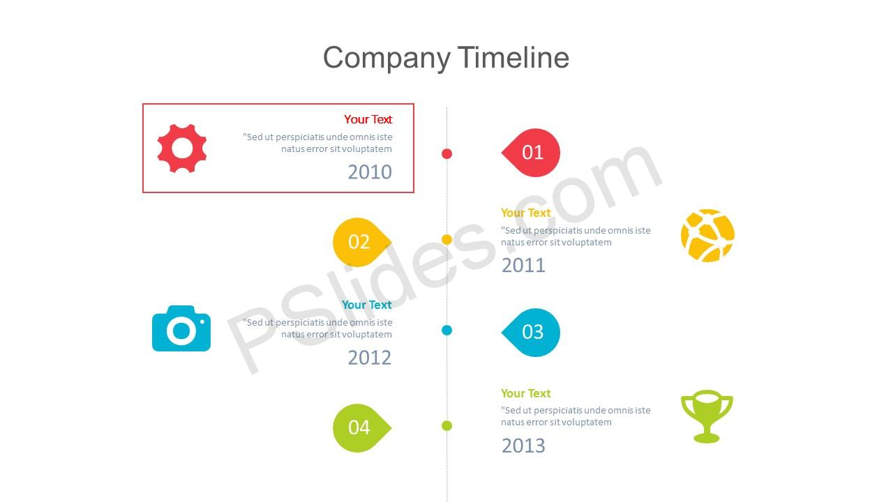 Company Timeline PowerPoint Slide