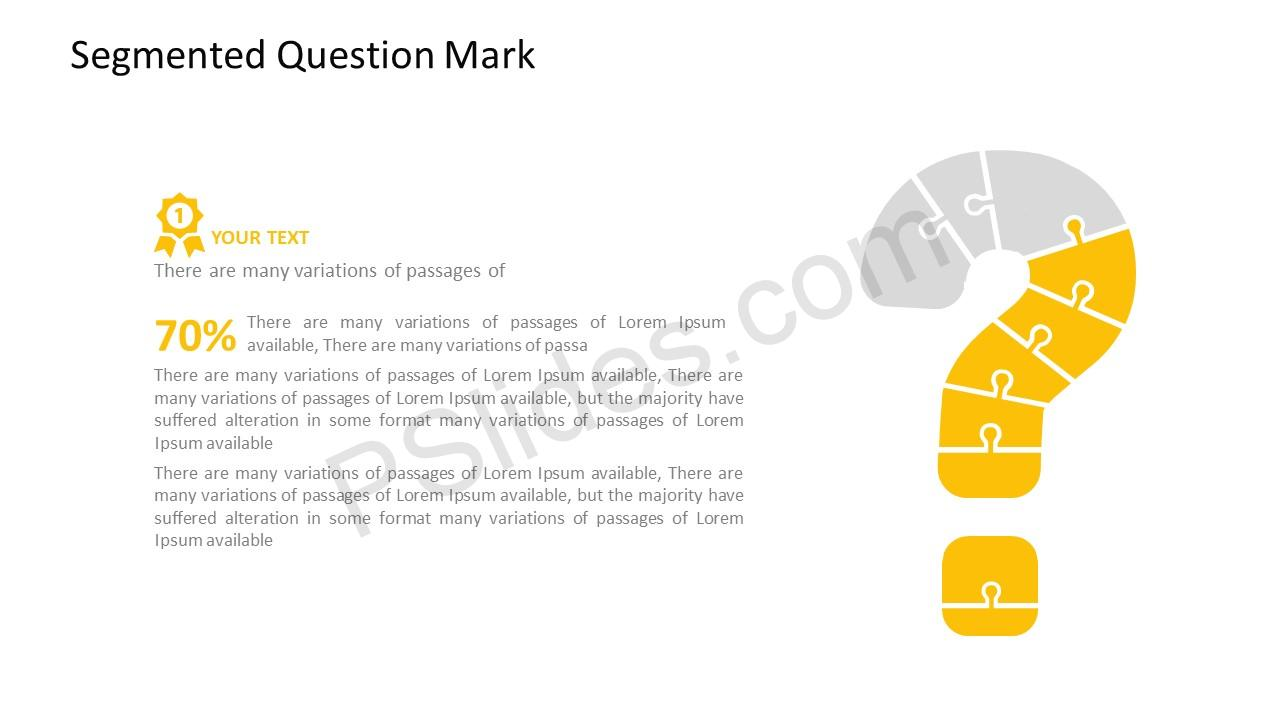 Question Mark Template