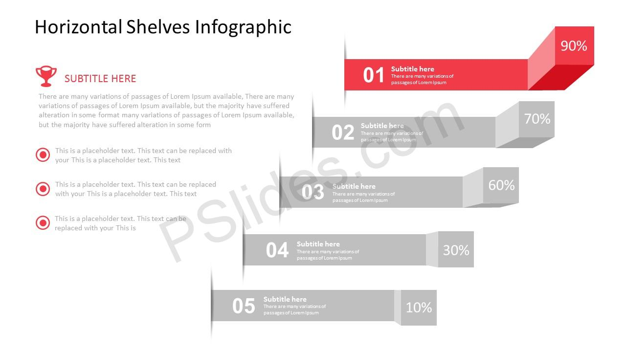 Horizontal Shelves Infographic for PowerPoint