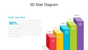 3D Stairs PowerPoint Diagram
