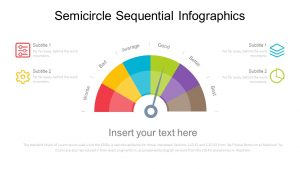 Semicircle Sequential PowerPoint Diagram
