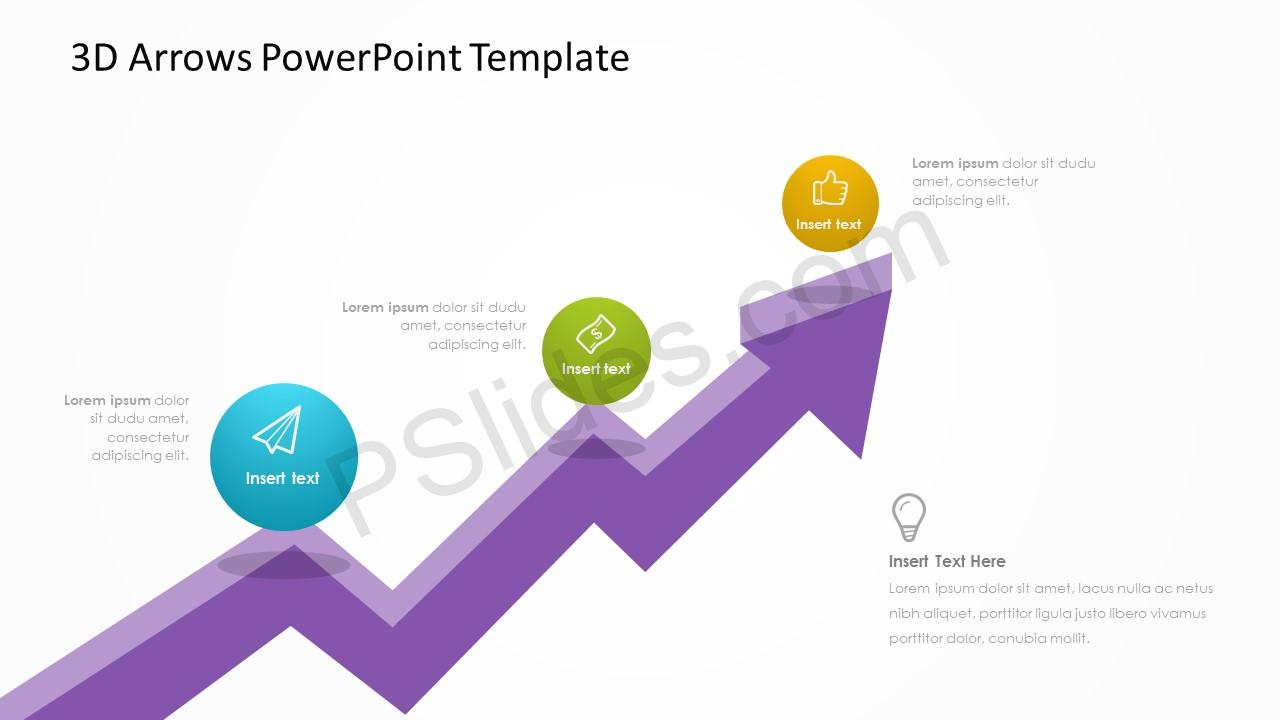 3D Arrows PowerPoint Template 2