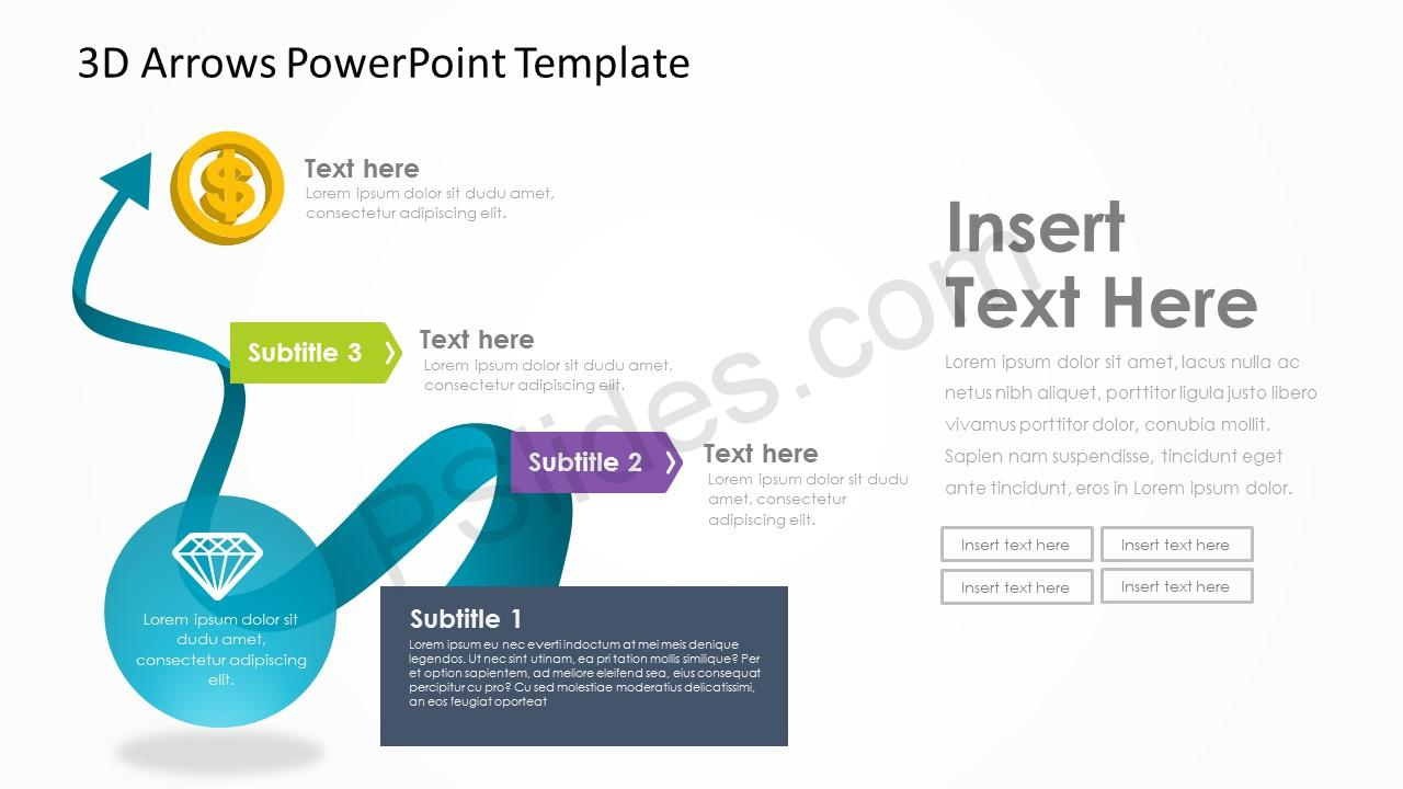 3D Arrows PowerPoint Template 4