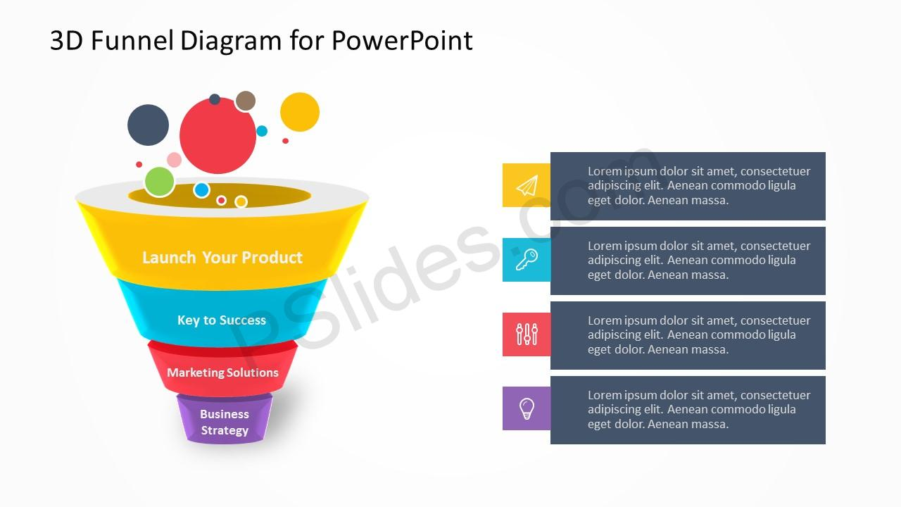 3D Funnel Diagram for PowerPoint 1