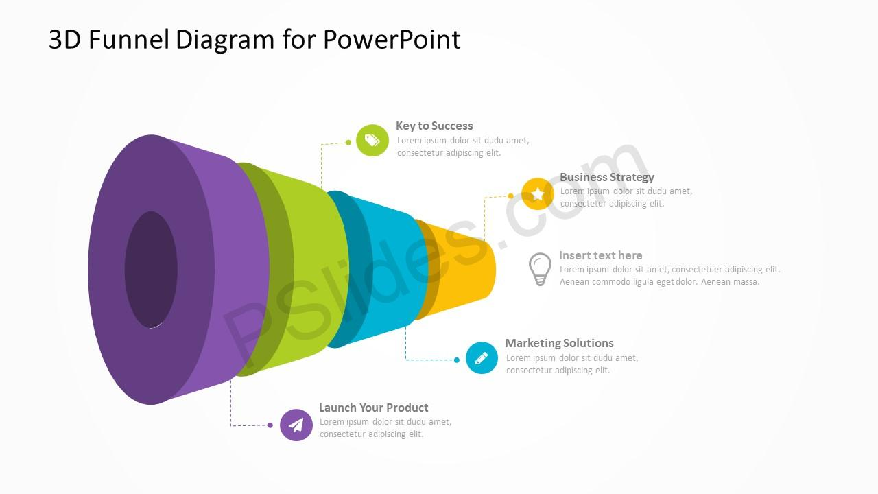 3D Funnel Diagram for PowerPoint 4
