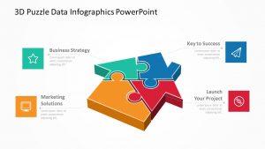 3D Puzzle Data Infographics PowerPoint