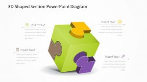 3D Shaped Section PowerPoint Diagram