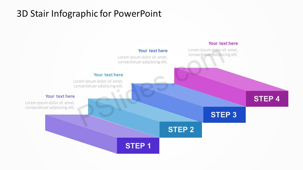 3d stair infographic for powerpoint pslides