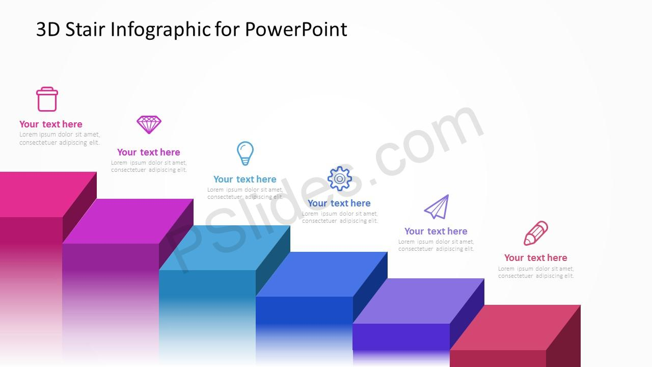 3d stair infographic for powerpoint pslides diagram of norwegian jade