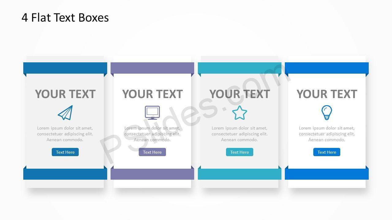 4 Flat Text Boxes 1