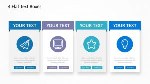 4 Flat Text Boxes for PowerPoint