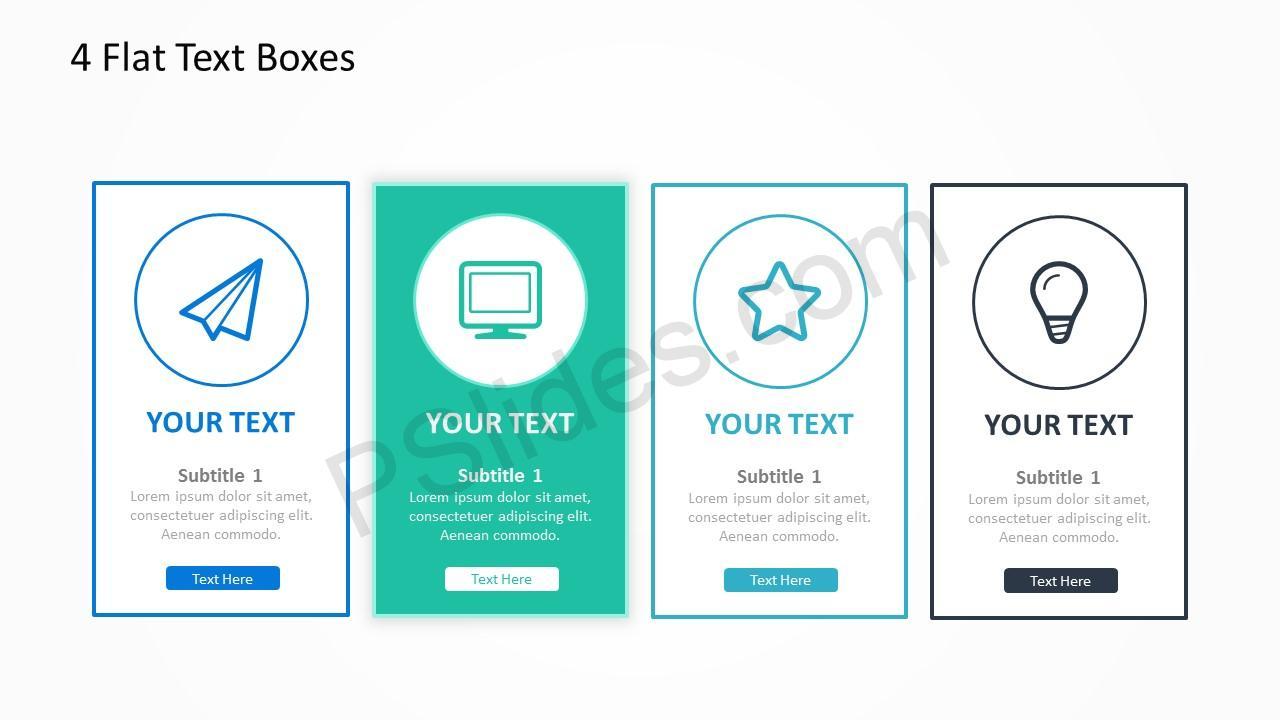 4 Flat Text Boxes 3