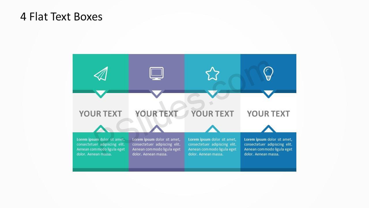 4 Flat Text Boxes 4
