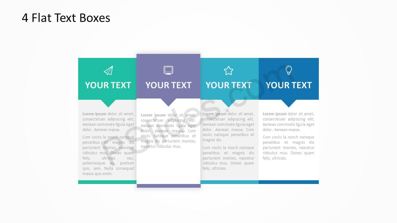 4 Flat Text Boxes 5