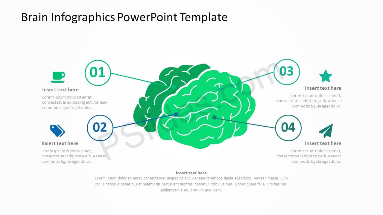 Brain Infographics PowerPoint Template 2