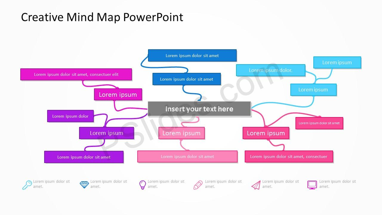 Creative Mind Map PowerPoint 2