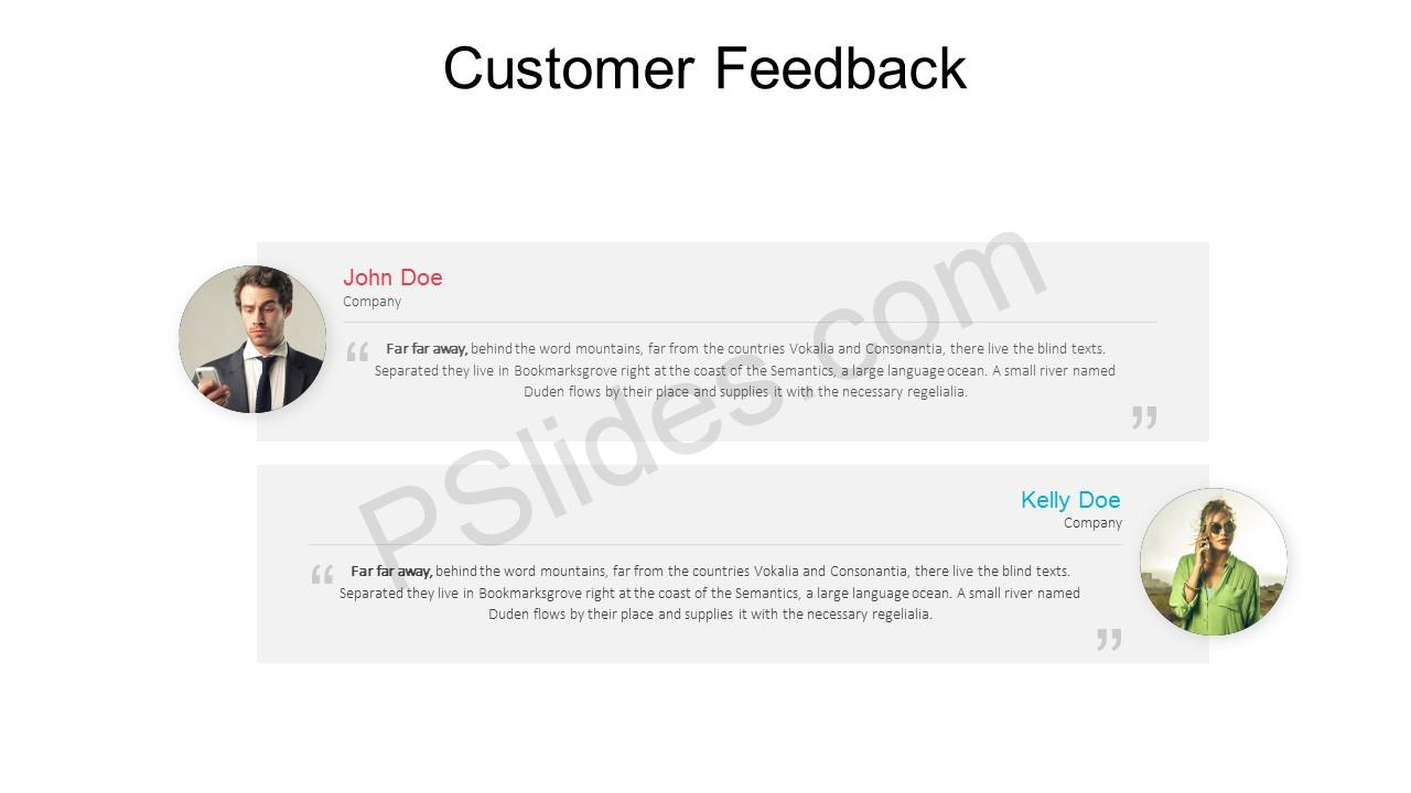 Free customer feedback powerpoint template pslides customer feedback powerpoint template 1 toneelgroepblik Image collections