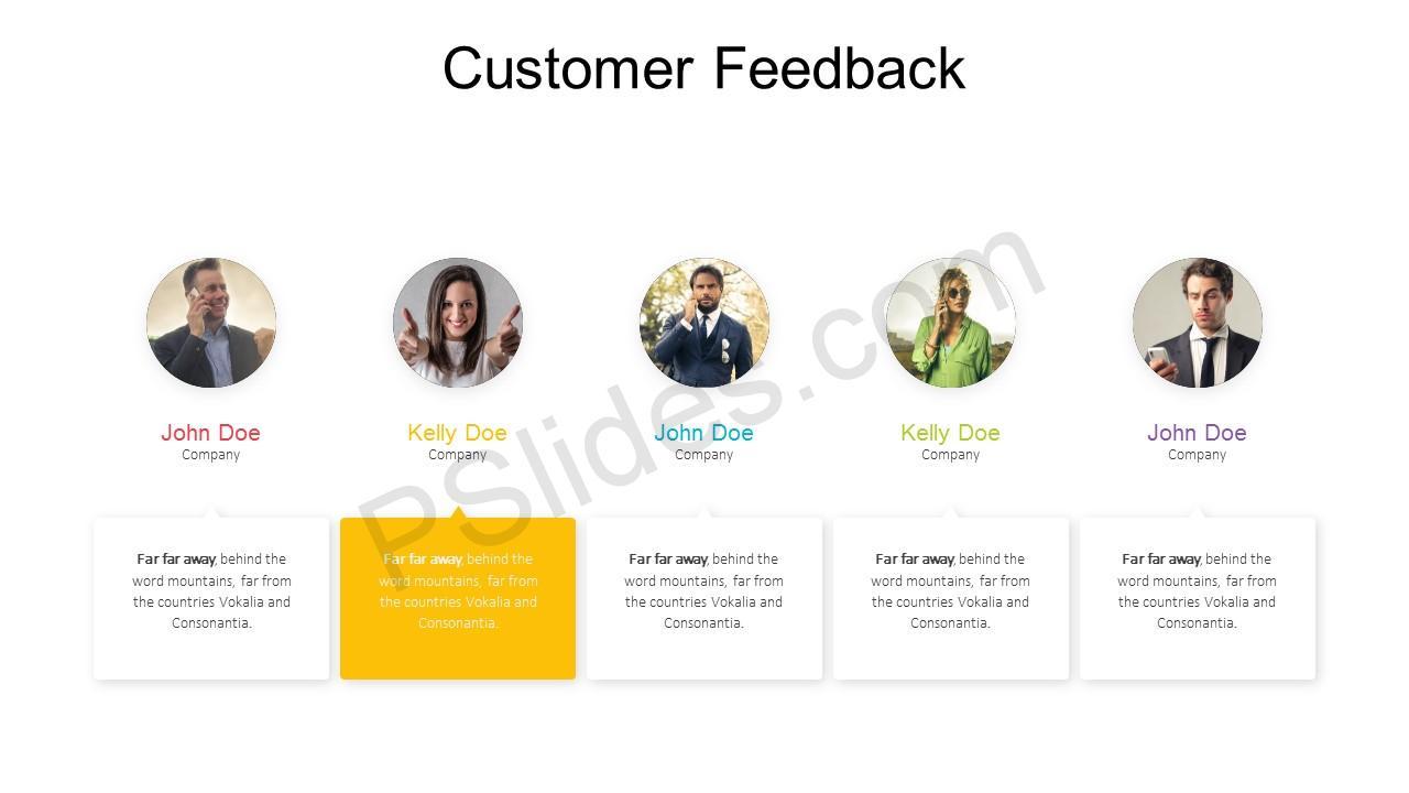 Customer Feedback PowerPoint Template 4