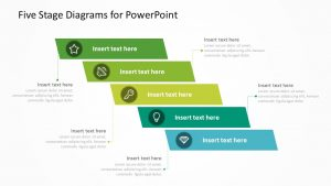 Five Stage Diagrams for PowerPoint