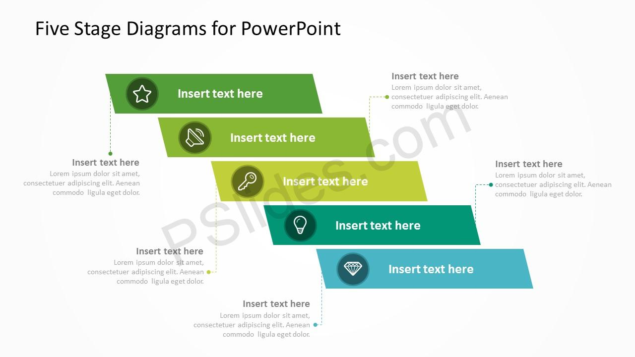 Five Stage Diagrams for PowerPoint 1