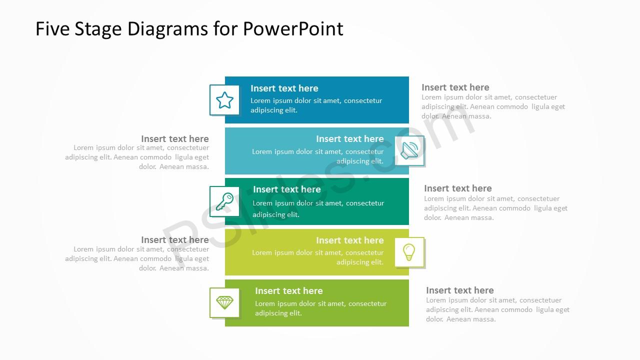 Five Stage Diagrams for PowerPoint 3