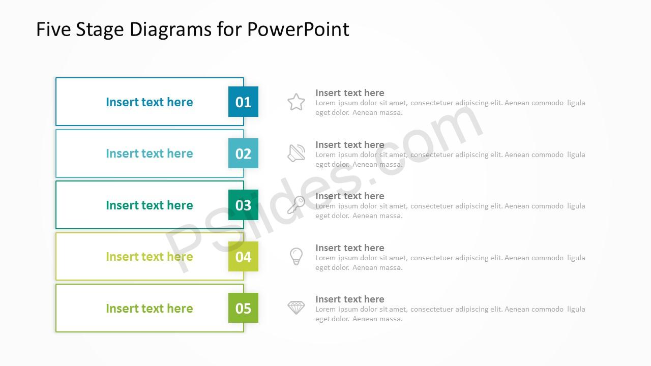 Five Stage Diagrams for PowerPoint 4