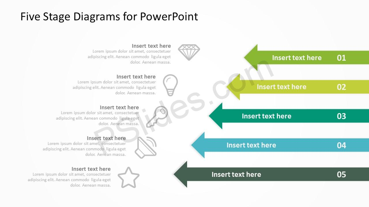 Five Stage Diagrams for PowerPoint 5
