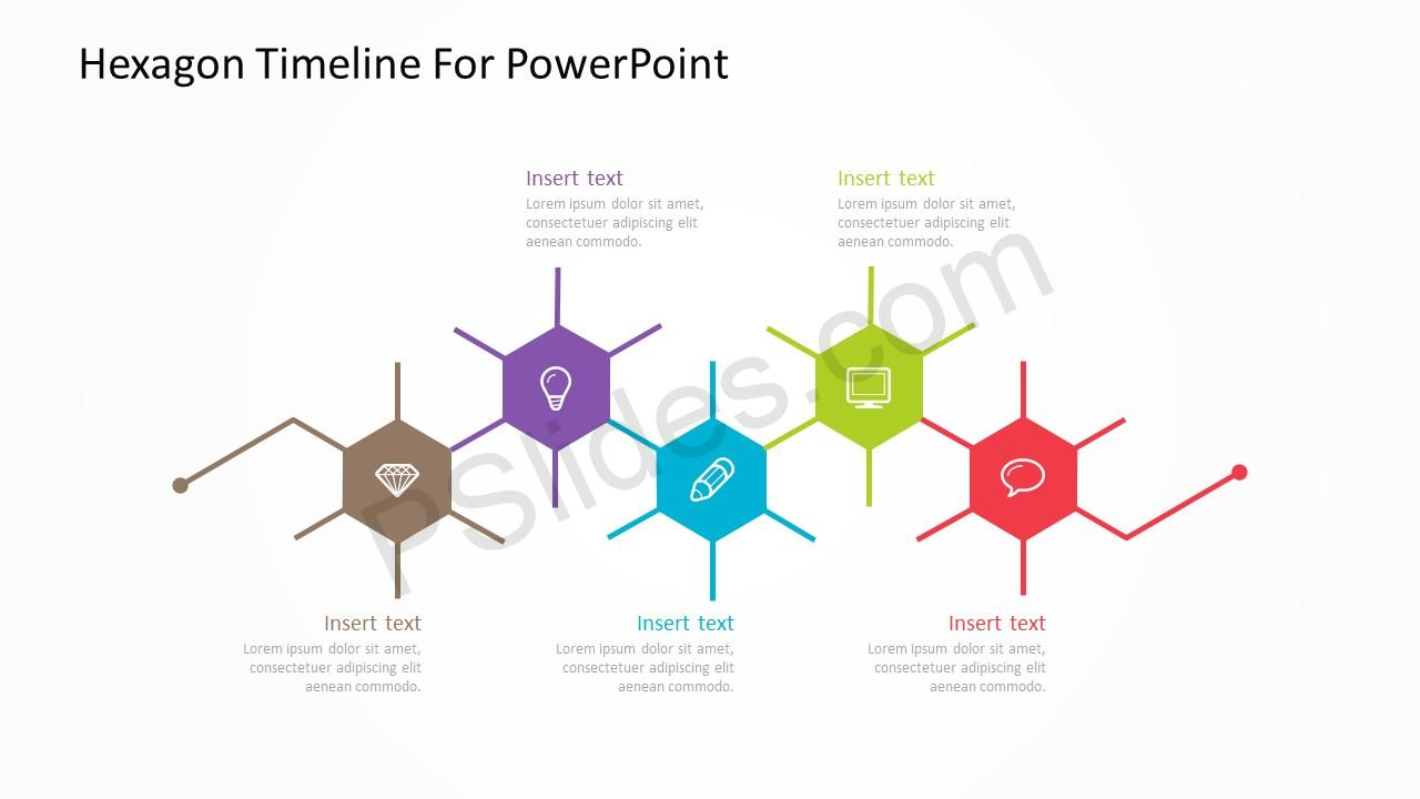 Hexagon Timeline For PowerPoint 3