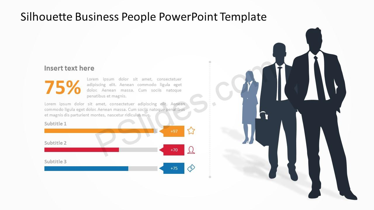 Silhouette Business People PowerPoint Template 2