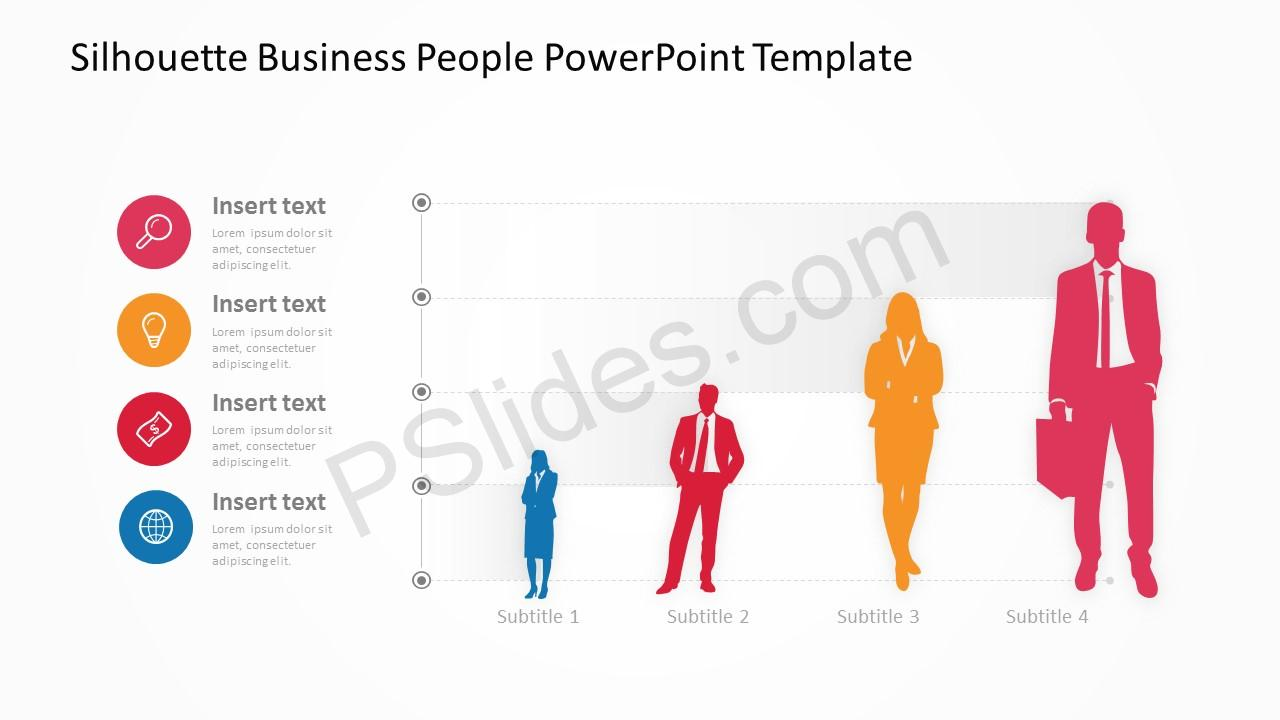 Silhouette Business People PowerPoint Template 5