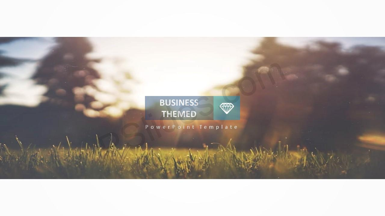 Business Themed PowerPoint Template