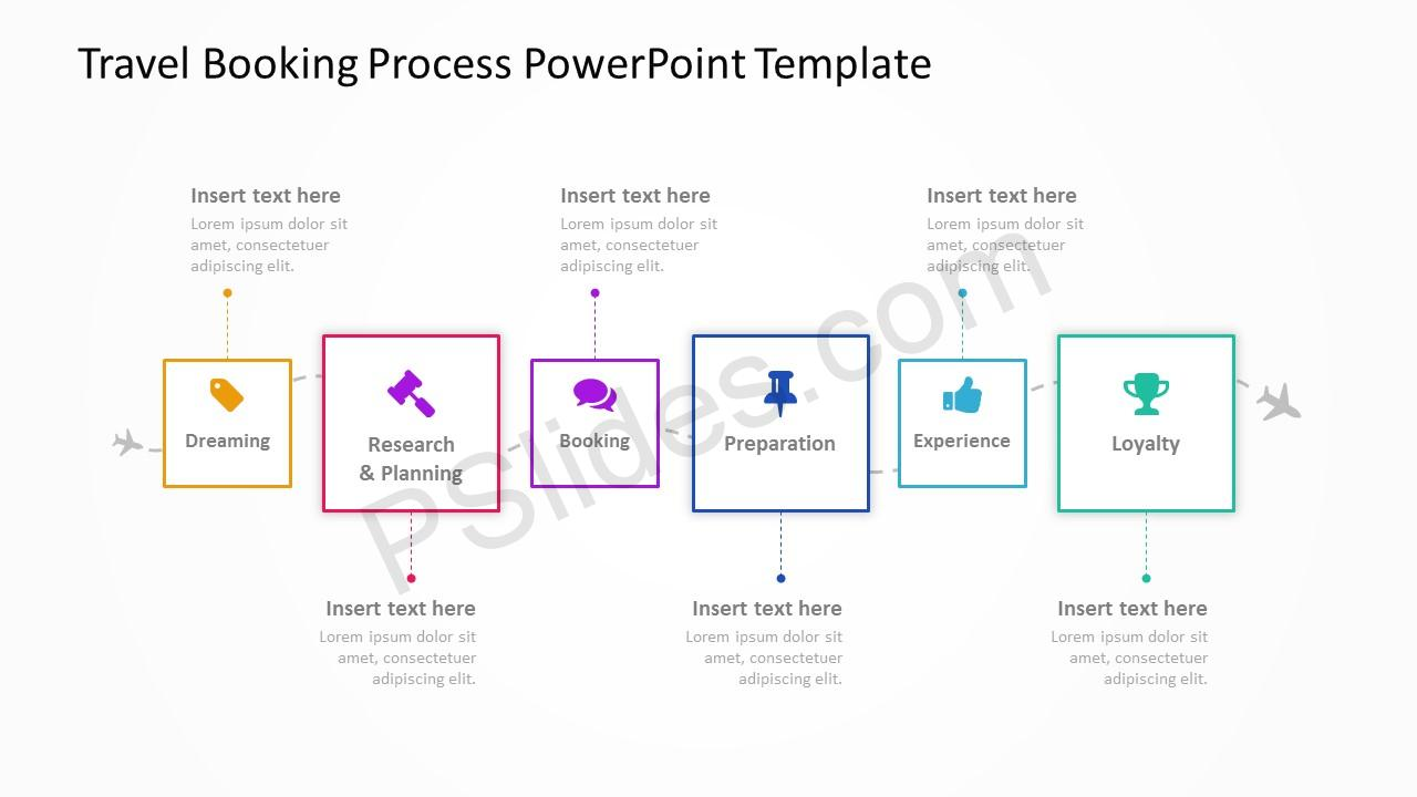 Travel Booking Process PowerPoint Template 4