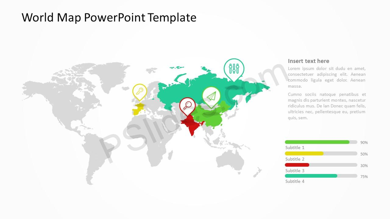 World Map Powerpoint Template Pslides