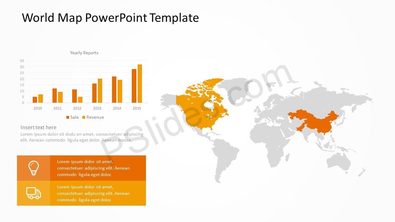 World Map Template slide 3