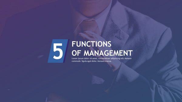 Management Functions PPT Slide 1