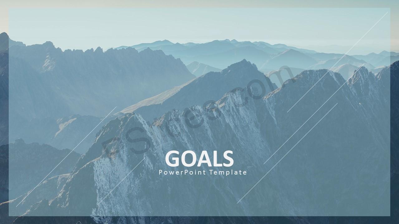 Goals Template Slide 1