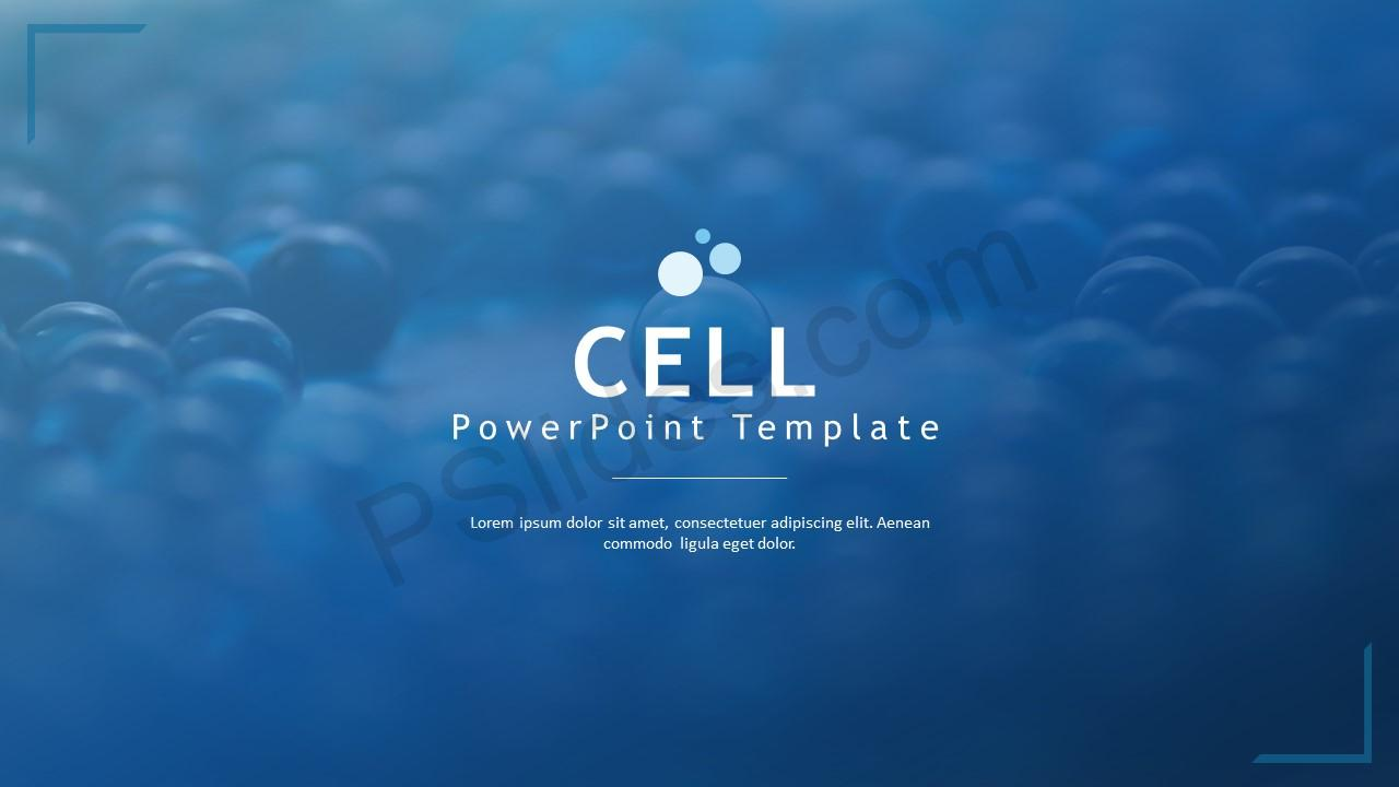 CELL PowerPoint Template - PSlides